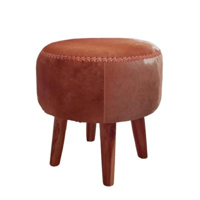 Tabouret Wins en cuir marron