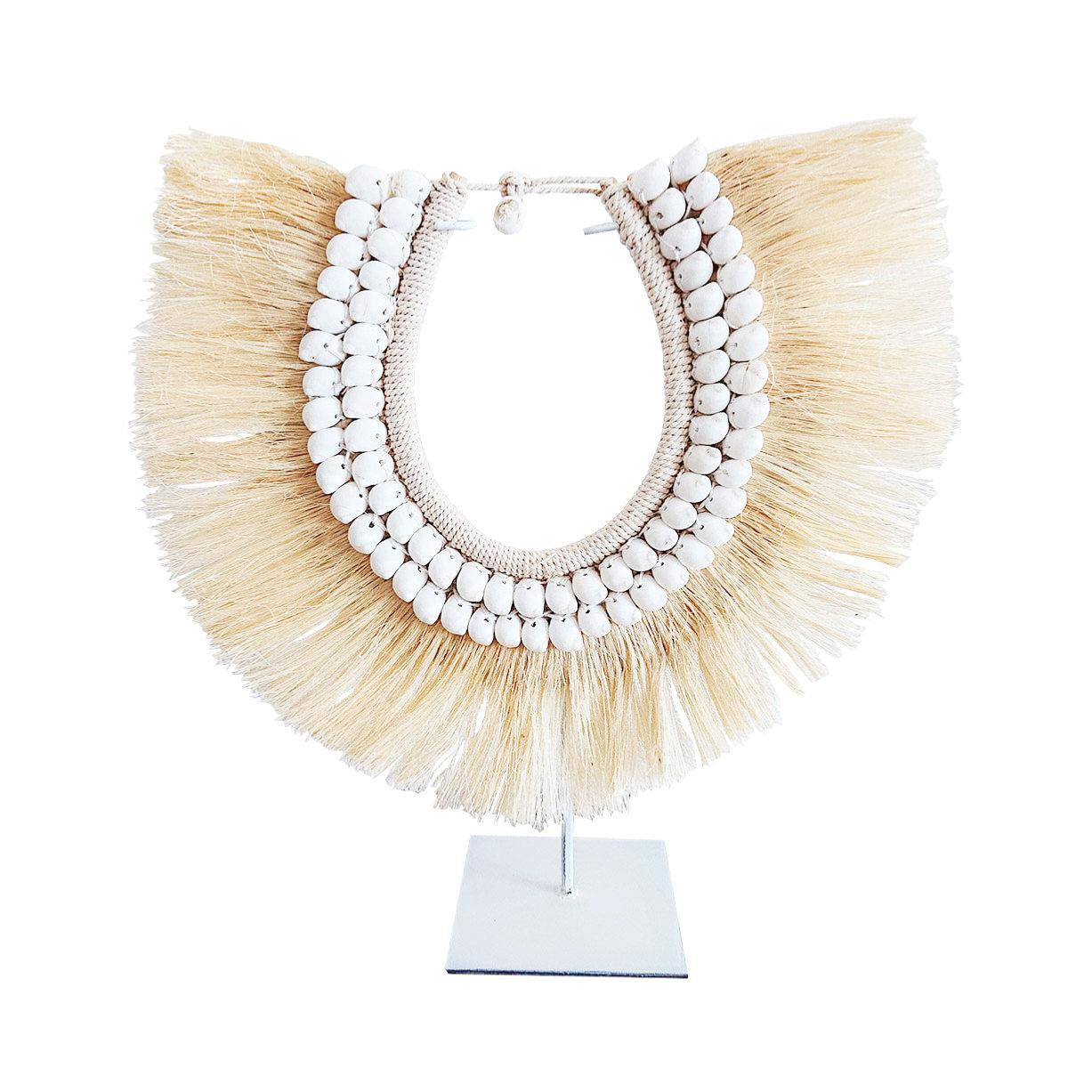 Collier Abaca blanc