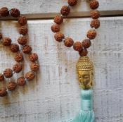 Collier Bouddha, turquoise