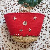 Panier Coquillage rouge