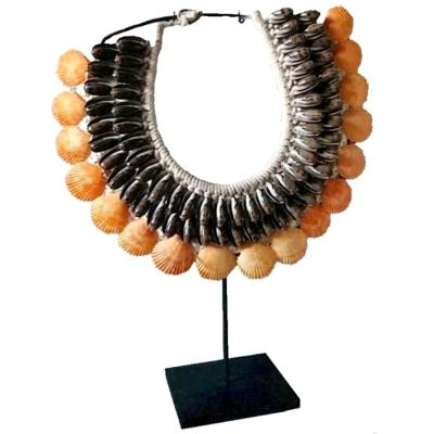 Collier Made demi-cercle, orange