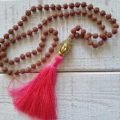 Collier Bouddha, rose